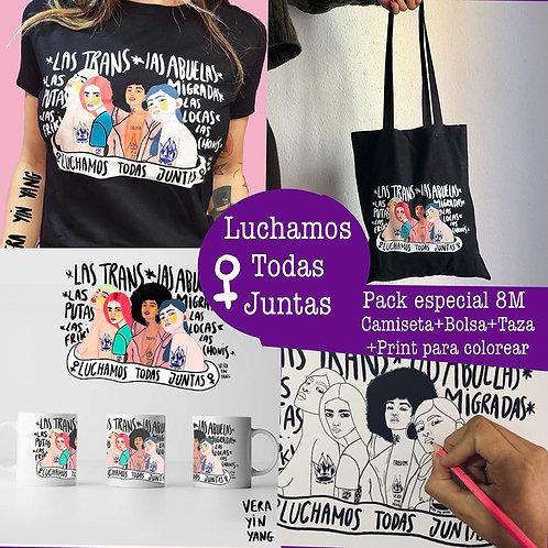 pack especial 8 de Marzo LUCHAMOS TODAS JUNTAS