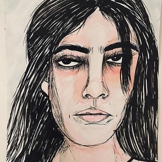 retrato chica rara