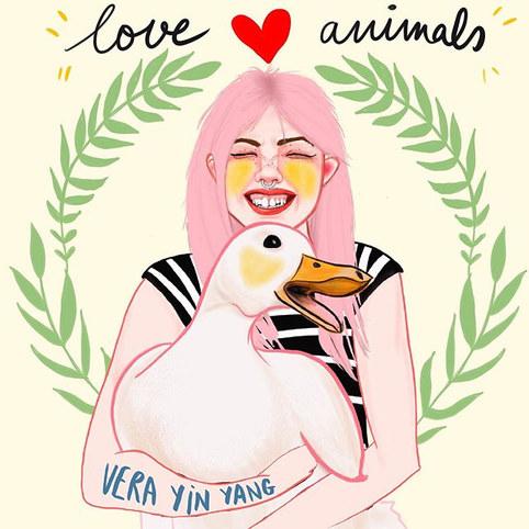 ilustracion amor animales