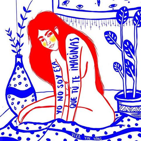 ilustracion rojo azul