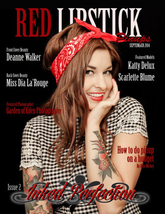 Red Lipstick Magazine Front cover and Feature Garden of Eden