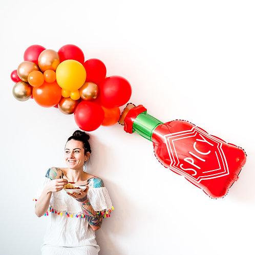 Spicy Hot Sauce Bottle Balloon Garland Kit