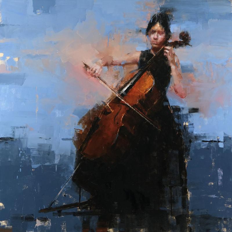 Classical Musician  Oil