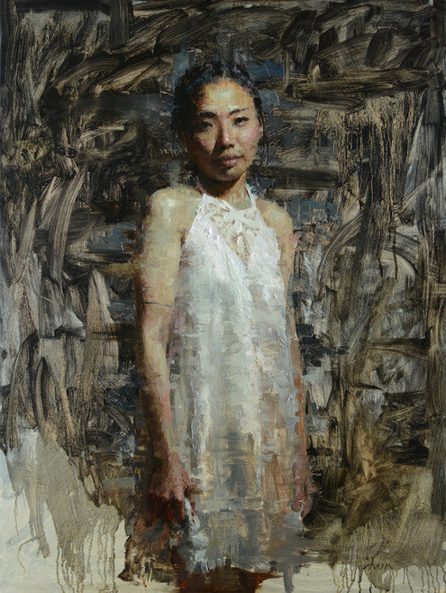 Rie, 48x36, Oil on Panel, 2014