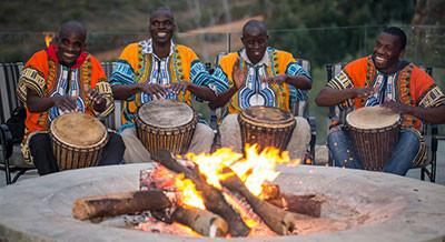 Botlierskop Fireplace Restaurant Drumming.jpg