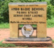 Sign to Ambo Basic School