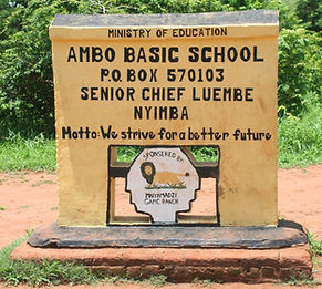 Sign to Ambo Basic School