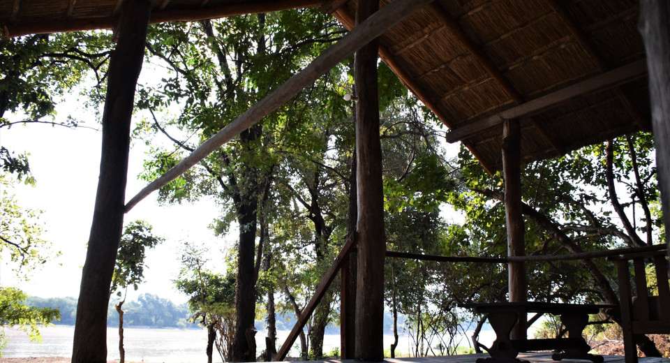 "View from the ""Honeymoon Suite""/Canvas Chalet verandah over the Luangwa River"