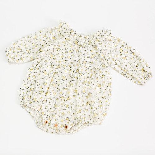 小花柄ロンパース