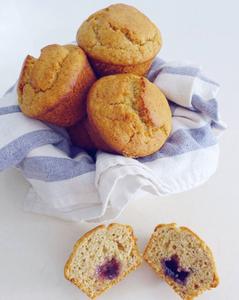 Vegan Jam-Filled Jumbo Muffins
