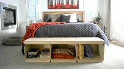 Storage cube bench slider 3