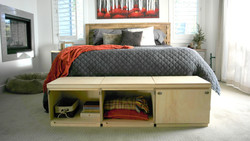 Storage cube bench slider 4