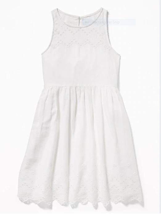 Old Navy White Dress Snip