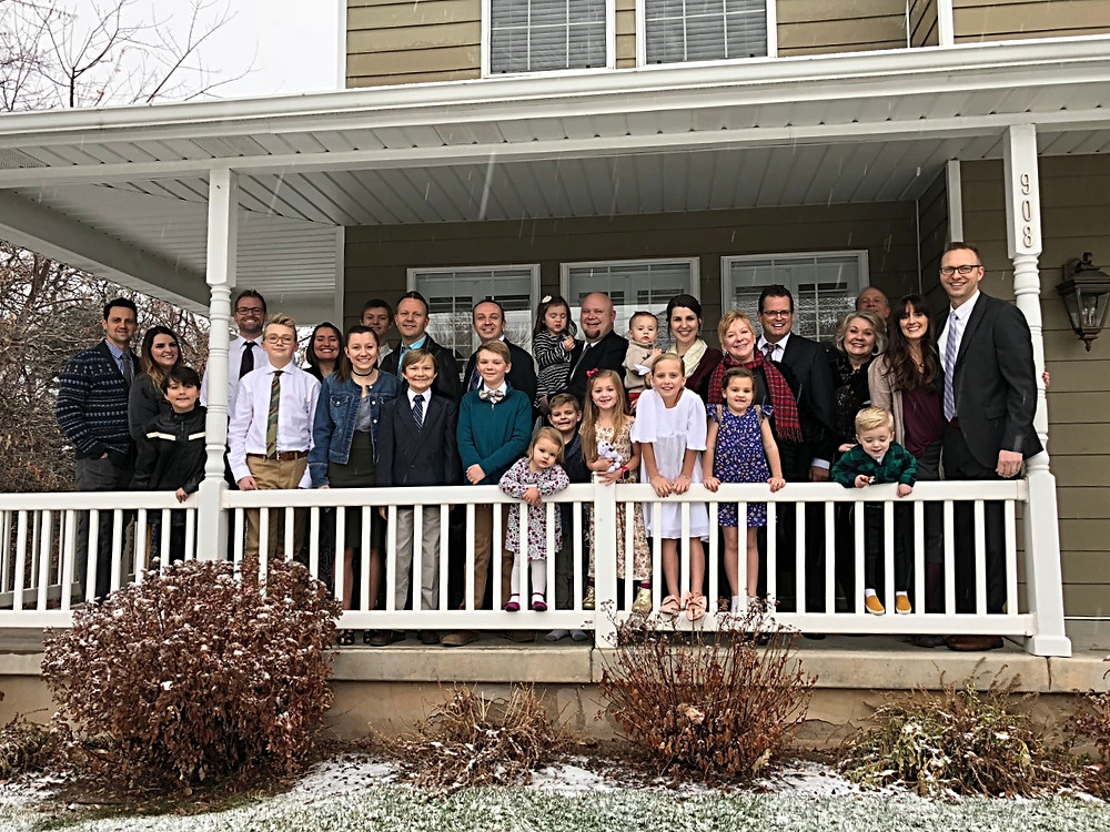 Family Picture after LDS Baptism