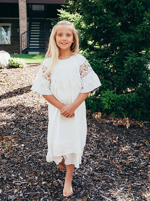 Greta LDS Baptism Dress Full View