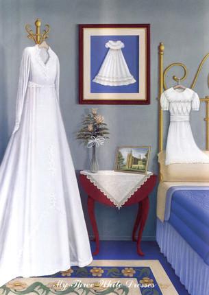 3 White Dresses Poem Drawing