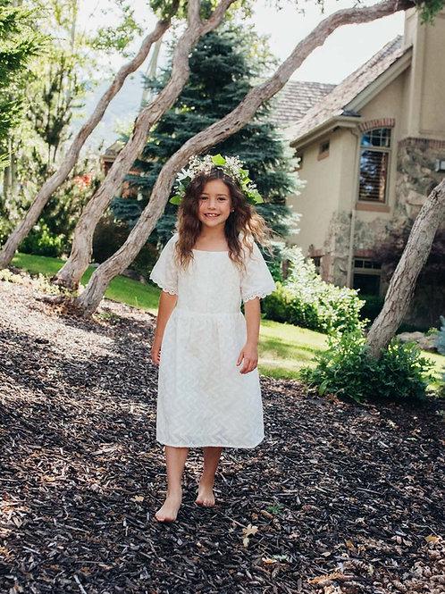 Roxie LDS Baptism Dress Full View