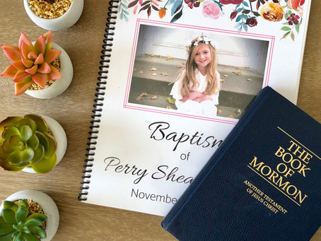 Simple LDS Baptism Memory Book