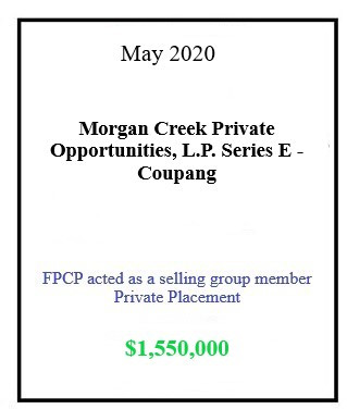 Morgan Creek Coupang May 2020