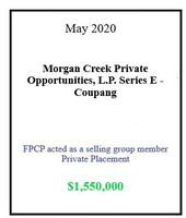 Morgan Creek Coupang May 2020