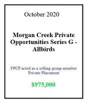 Morgan Creek Allbirds