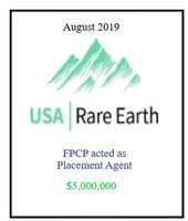 USA Rare Earth August 2019