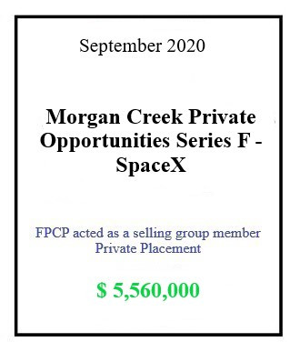 Morgan Creek SpaceX September 2020