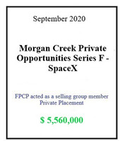 Morgan Creek SpaceX September 2020