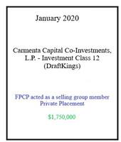 Carmenta Draft Kings Januray 2020