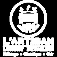 _L'Artisan (White Logo, Transparent Back