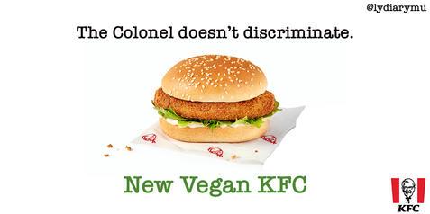 """kfc vegan burger"""