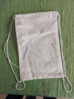 White Canvas Drawstring Bag $6.00
