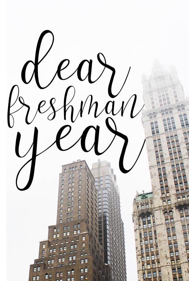 dear freshman year of college: