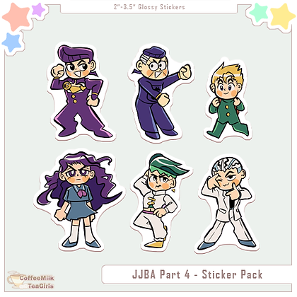 Jojo Diamond Is Unbreakable - Sticker Pack