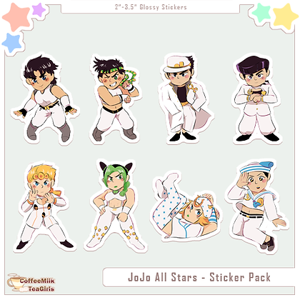 OLD Jojo All Stars - Sticker Pack
