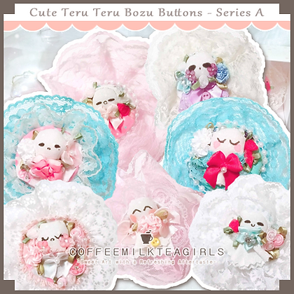 Cute Teru Teru Bozu Buttons - Series A