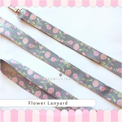 Vintage Flower- Lanyard