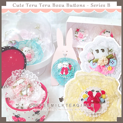 Cute Teru Teru Bozu Buttons - Series B