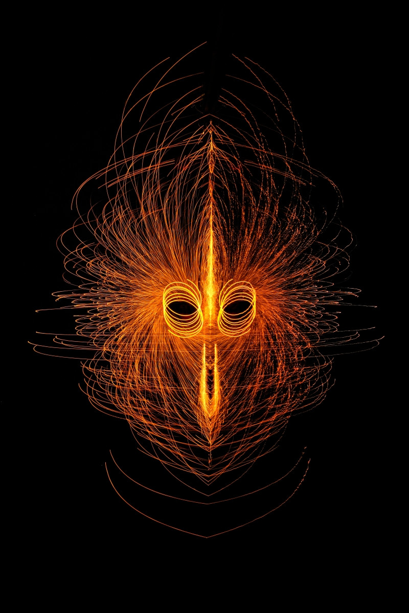 'Face mask' by Anita Kirkpatrick (11 marks)