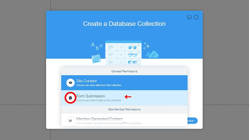 Creating A Wix Database