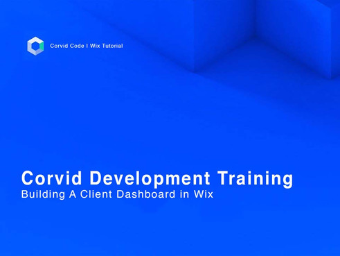 Building A Client Dashboard in Wix   Corvid Code   Wix Tutorial