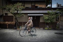 Monk on his bike
