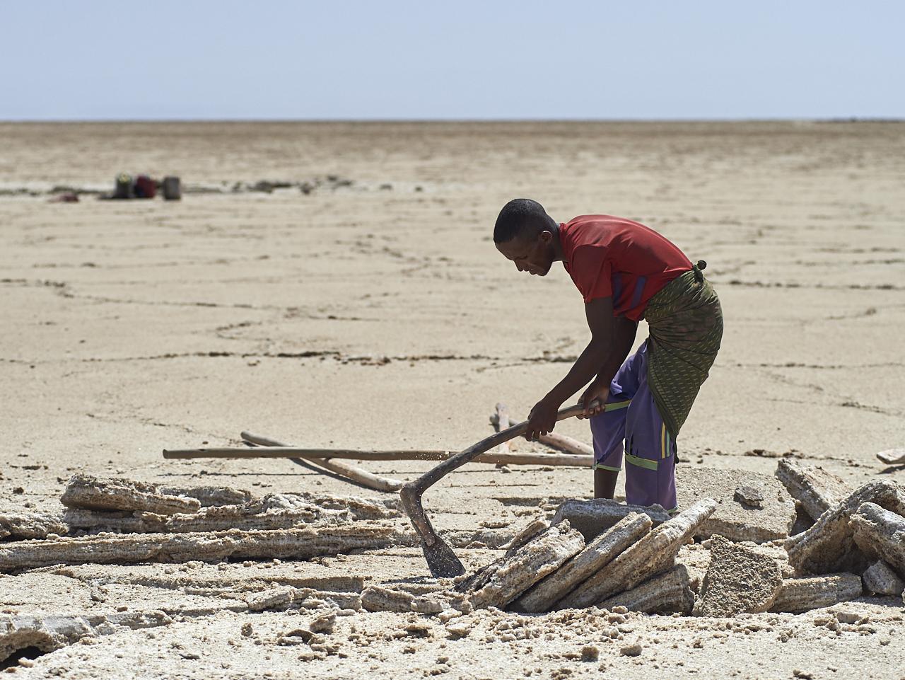 Salt miner, Danakil Depression