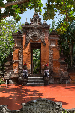 Traditional balinese temple gate