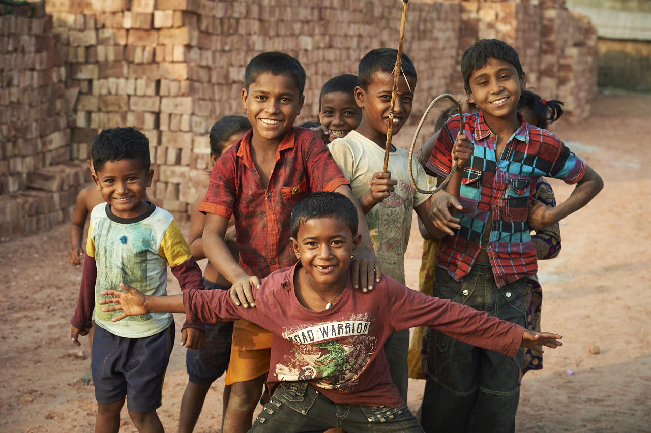 Children, brick factory, Bangladesh