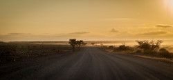 On the Namibian road