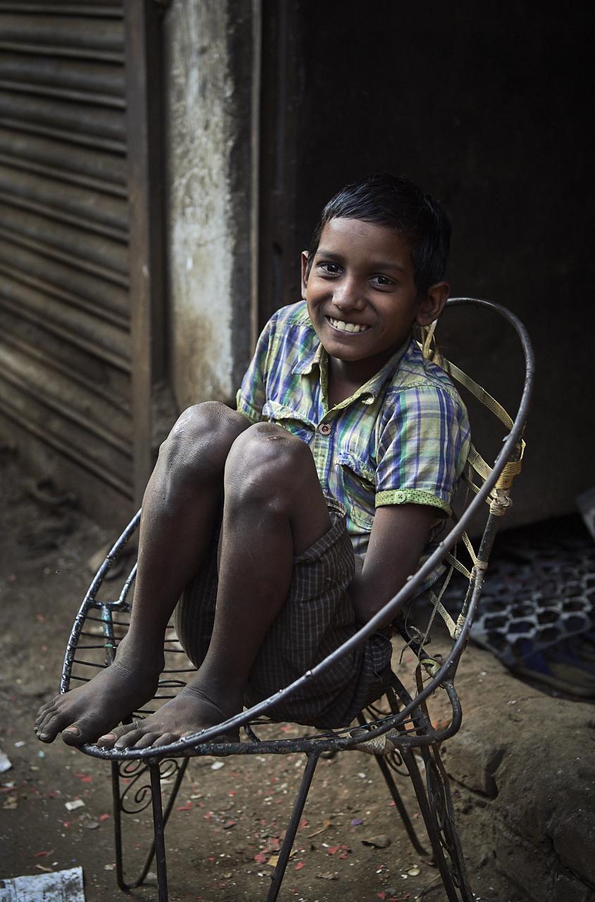 Boy in aluminium factory, Dhaka