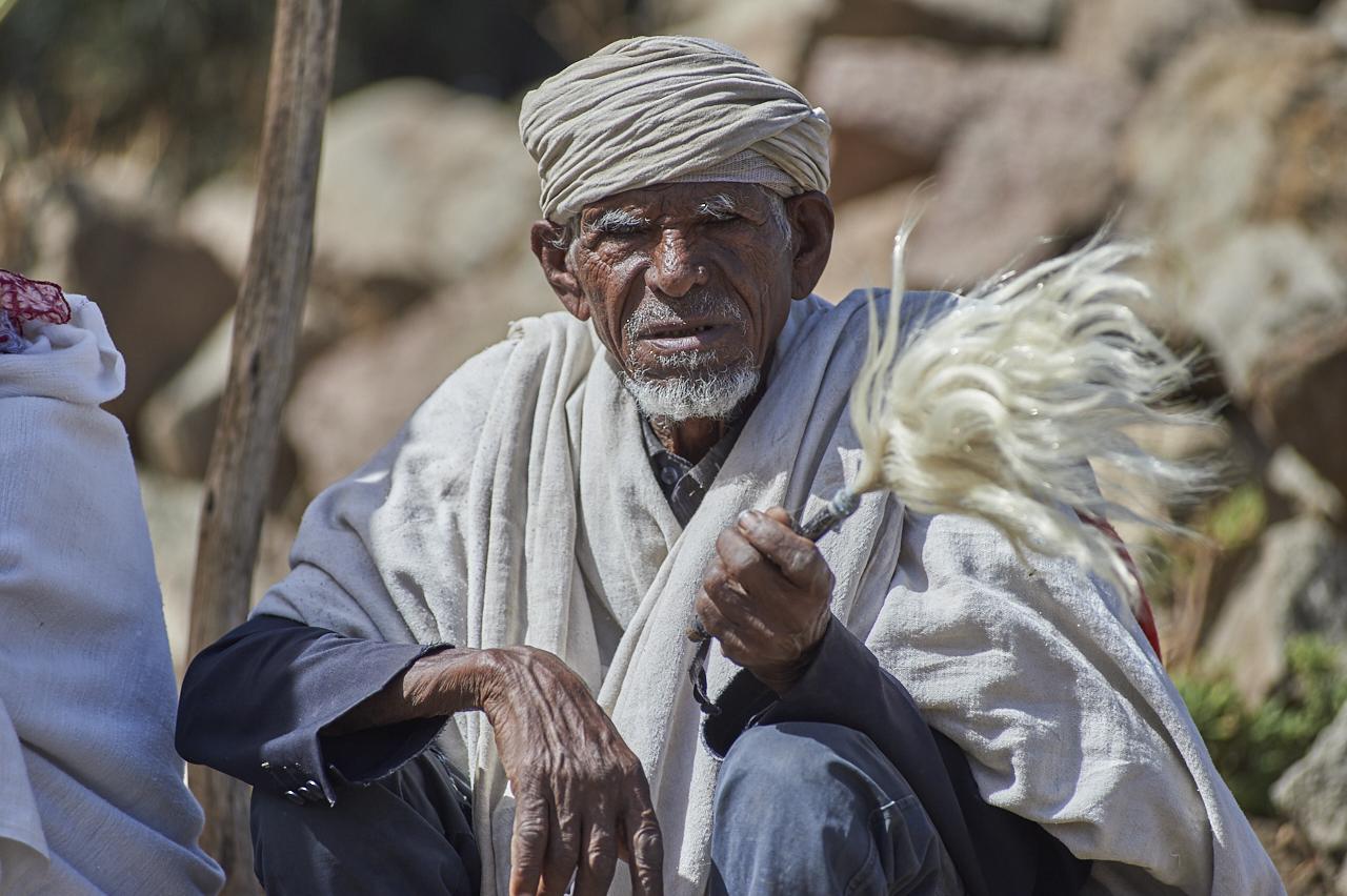 Elderly man, Lalibela