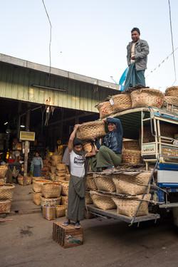 Workers, Mandalay market