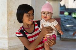 Girl with baby, Salay monastery